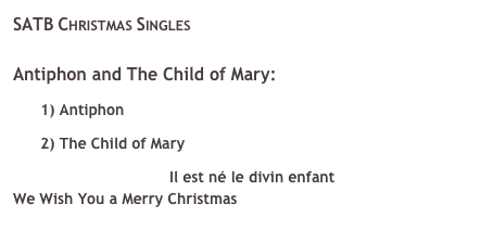SATB Christmas Singles