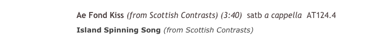 Scottish Contrasts