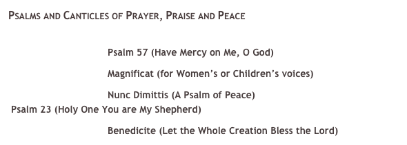 Psalms and Canticles of Prayer, Praise and Peace 